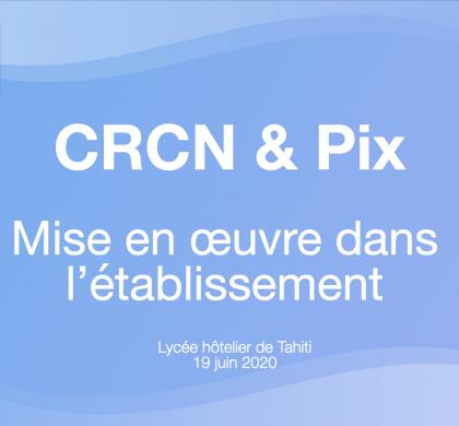 CRCN & Pix mise en œuvre dans l'établissement